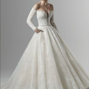 Porter Marie off the shoulder bridal gown. New!